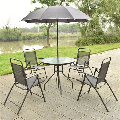 Patio Table Chairs Umbrella Set by Aliexpress Buy 6 Pcs Patio Garden Set Furniture 4