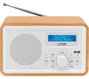 cabinet clock radio with light buy logik lhdr15 portable dab fm clock radio light wood