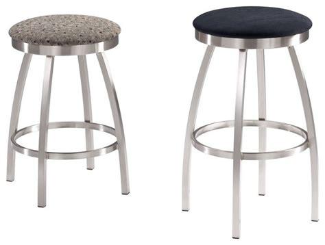 trica grace 30 brushed steel bar stool w swivel trica max swivel backless bar stool brushed steel