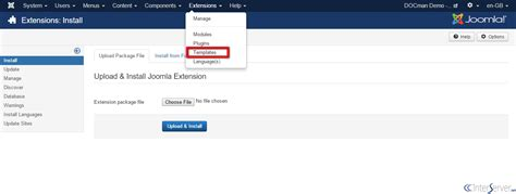 how to install template in joomla how to install joomla templates interserver tips