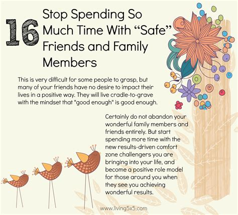 stop spending so much time with quot safe quot friends and family