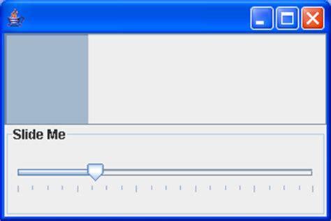 java swing slider make the horizontal slider move right to left slider