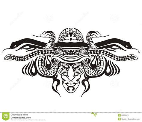 与蛇的风格化对称的装饰图案 免版税库存照片 图片 28652078