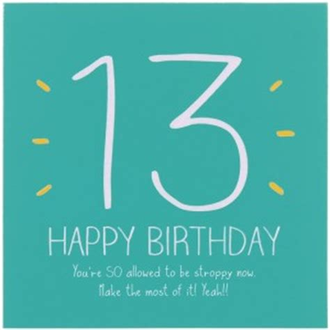 13 Year Birthday Quotes 13th Birthday Quotes Funny Quotesgram