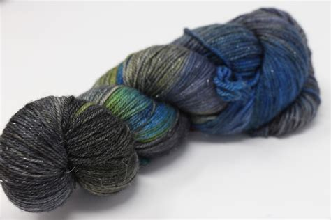 zen yarn garden superfine glitter lake mist