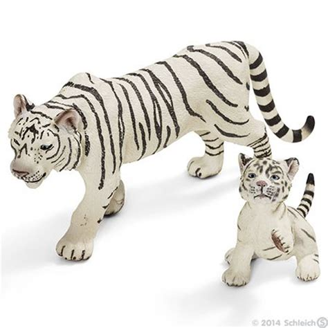 Schleich White Tiger Cub schleich tiger white livin on the side tigers animal and