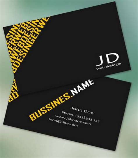 Absolutely Free Business Card Templates by 60 Absolutely Free And Black Business Card Templates