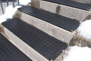 heated flakes premium snow melting stair mats