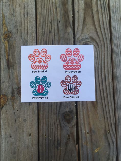 printed iron on vinyl aztec paw print iron on vinyl decal glitter iron on vinyl