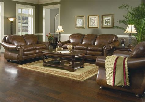brown leather sofa living room ideas home furniture pacific impex