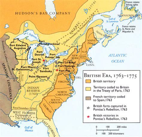 america map in 1763 1763 elec intro website