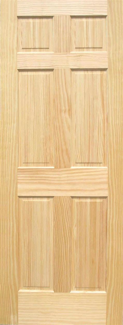 6 Panel Wood Doors by Pine 6 Panel Wood Interior Doors Homestead Doors