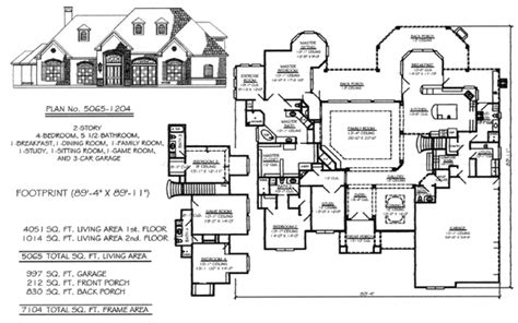 5 Bedroom To Estate Size Over 4500 Sq Ft 4500 Sq Ft House Plans