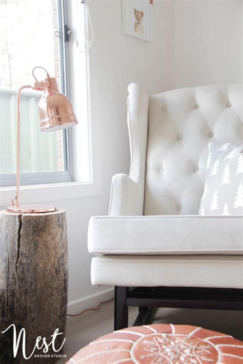 nest design studio instagram rose gold nursery decor project nursery