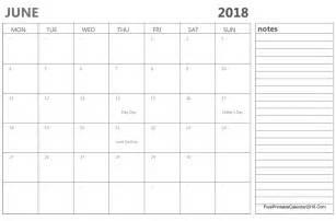 Calendar For June 2018 June 2018 Calendar Templates