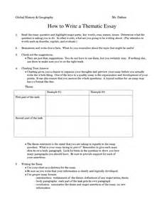 How To Write A Thematic Essay by Thematic Essay Outline Sle Thematic Essay The Hunger Ayucar