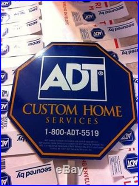1 adt security yard sign 16 stickers custom home sale