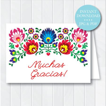 printable thank you cards in spanish printable fiesta thank you card instant download fiesta