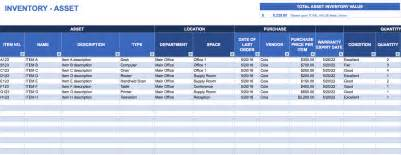 It Asset Management Plan Template by Free Excel Inventory Templates