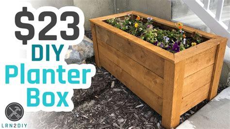 diy planter box youtube