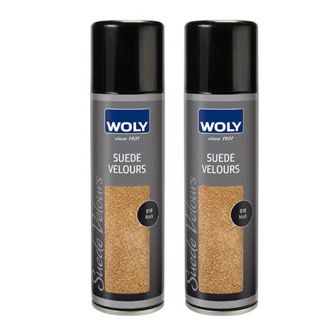 woly suede dye spray black pack fresh step