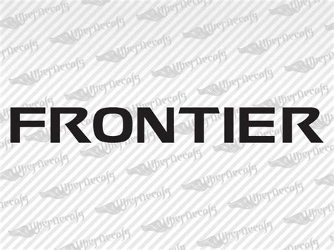 nissan frontier decal nissan frontier logo decal stickers