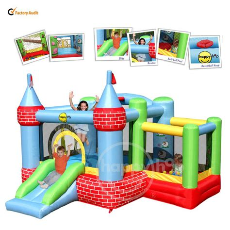 happyhop bouncer with slide 9112 castle