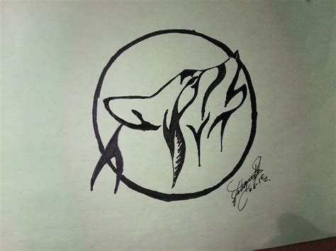 how to draw a wolf howling to tattoo como dibujar un lobo