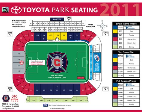 rsl stadium seating 2011 mls seating charts and season ticket prices