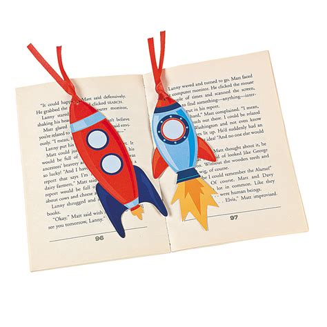 printable rocket bookmarks space rocket bookmarks oriental trading discontinued