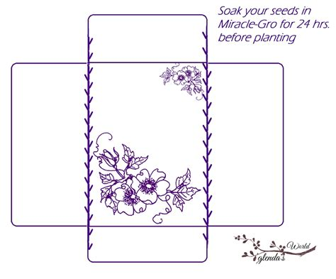 printable seed packet template glenda s world seed envelope packets