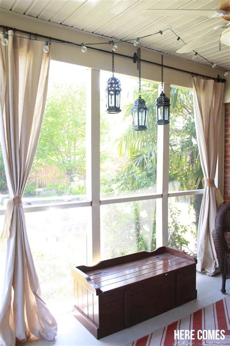 how to make patio curtains drop cloth porch curtains here comes the sun