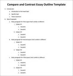 Exle Compare Contrast Essay by Outline Template 11 Free Documents In Pdf Excel Word