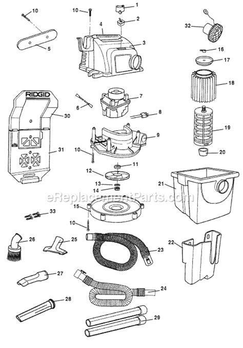 Karcher Wd5500 ridgid wd5500 parts list and diagram ereplacementparts