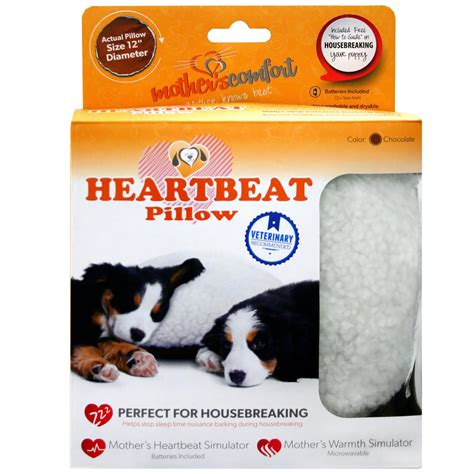 Pillow With Heartbeat by Petzu S Comfort Heartbeat Pillow Chocolate White