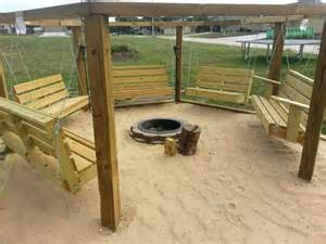 Fire Pit Swing by Beach Theme Swings Around A Fire Pit Home Projects