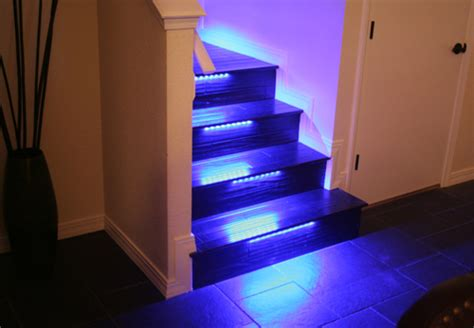 Led Light Strips For Stairs Wallace Takes His Stairs Beyond The Bulb With Color