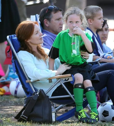 Congrats To Marcia And Tom by Marcia Cross And Family Out At The Park In This Photo