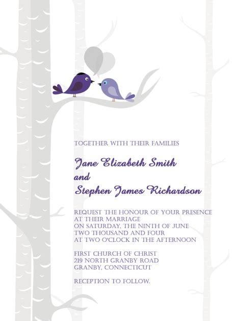 bird wedding invitations free bird wedding theme invitations weddingplusplus