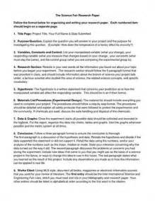 Research Paper Science Sample Research Paper For Science Fair