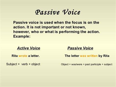 business letter active or passive voice passive voice