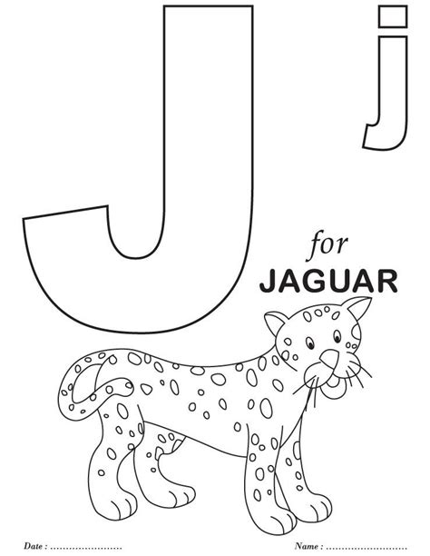 printable coloring pages preschool printables alphabet j coloring sheets homeschool