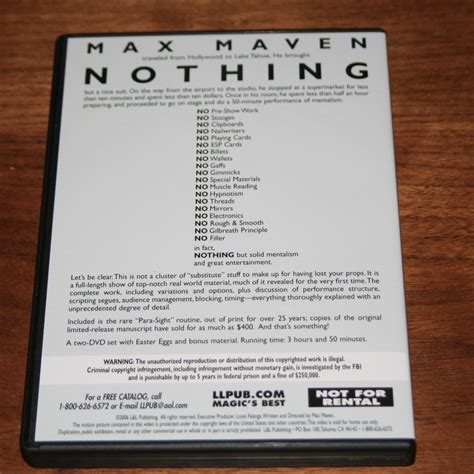 Dvd Sulap 2017 Kayfabe By Max Maven 4 Volume Set nothing dvd by max maven martin s magic collection