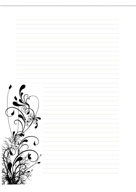 free printable artistic stationery free stationary floral1 by cpchocccc on deviantart
