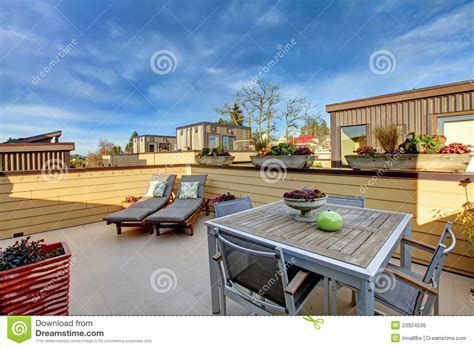 Apartment Building Roof Apartment Building Roof Top Terrace Exterior Royalty Free
