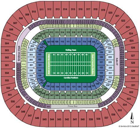 carolina panthers seating capacity bank of america stadium tickets year events