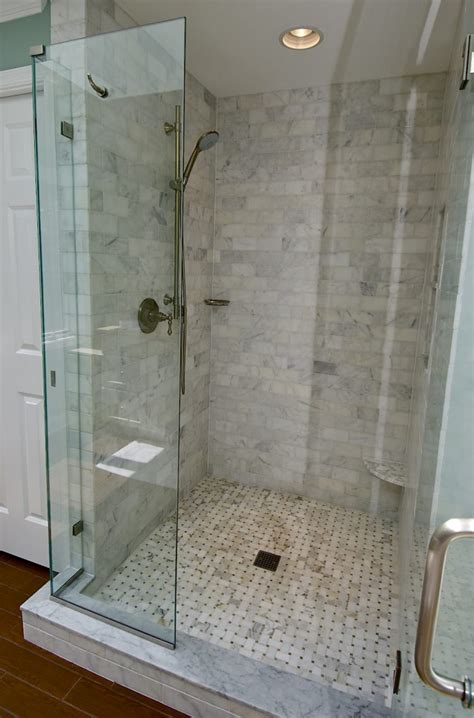 subway tile shower marble subway tile shower offering the sense of elegance homesfeed