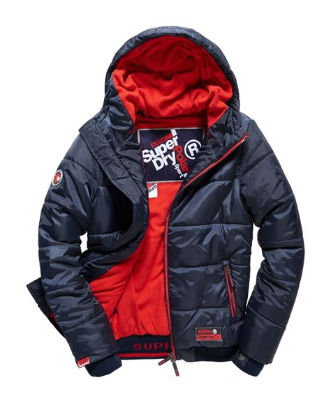 Superdry Sporttas new mens superdry sports polar puffer jacket navy ebay