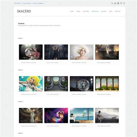 template photo gallery skacero responsive website template responsive website