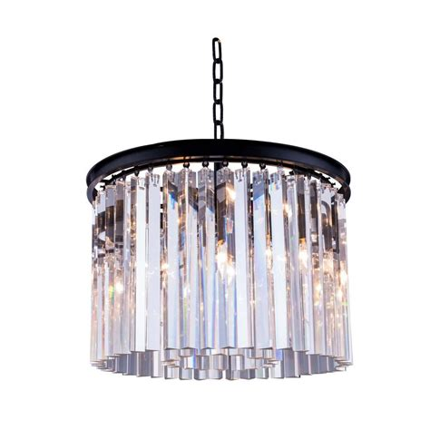 Chandelier Sydney Lighting Sydney 6 Light Mocha Brown Chandelier With Clear 1208d20mb Rc The